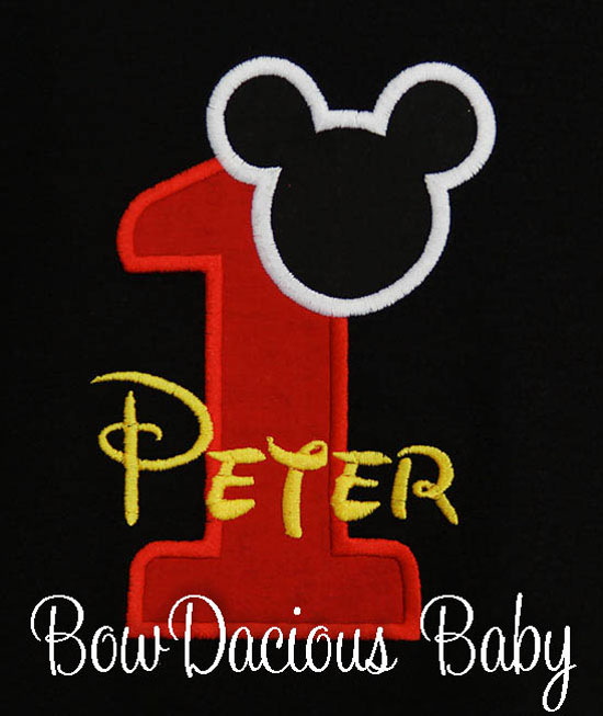 Boys Mickey Mouse Red Number Birthday Shirt or Onesie
