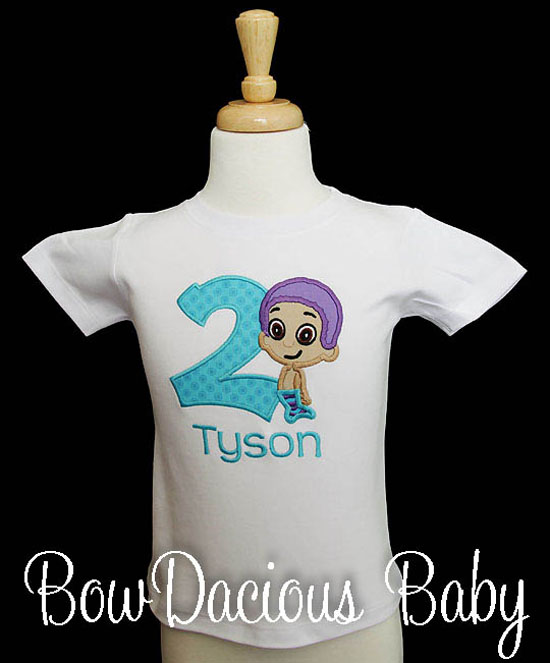 Goby Bubble Guppies Birthday Shirt or Onesie, Custom, Any Age, Any Colors