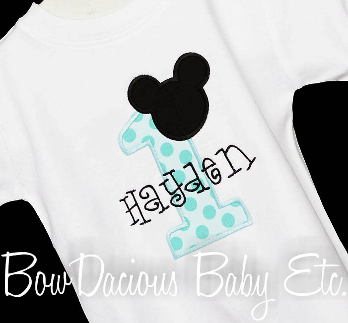 Mickey Mouse 1st Birthday Shirt or Onesie, Custom, Any Age
