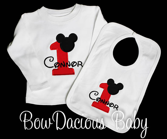 Mickey Mouse Birthday Boy Outfit