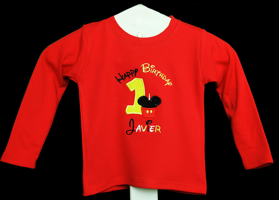 Mickey Mouse Birthday Shirt or Onesie, Cupcake, Disney Shirt, Custom