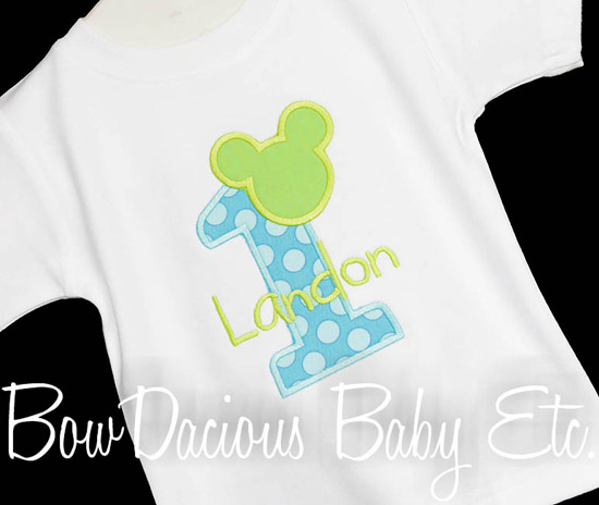 Baby Mickey Mouse Birthday Shirt or Onesie, Custom