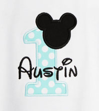 Custom Baby Mickey Birthday Onesie