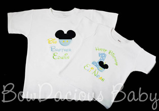 Mickey Mouse Birthday Shirt and Brother/Sister Shirt, Any Age, Custom