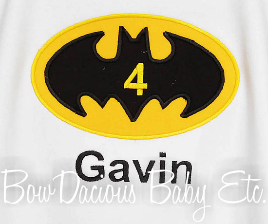 Batman Birthday Shirt or Onesie, Custom, Any Age