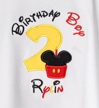disney mickey mouse birthday boy tshirt custom any age