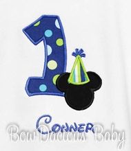 Mickey Mouse Birthday Shirt or Onesie, Custom Mickey with Birthday Hat, Any Age