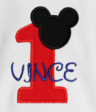 Red Mickey Mouse Birthday Shirt, Custom