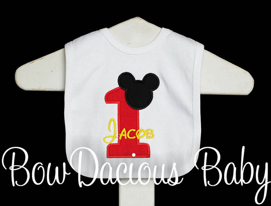 Mickey Mouse Baby Bib Personalized Birthday