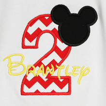 Boys Mickey Mouse Custom Birthday Shirt