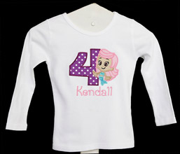 Bubble Guppies Birthday shirt (Number can be changed) Molly, Custom