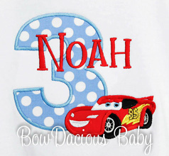 Custom Disney Cars Birthday Shirt, Any Age