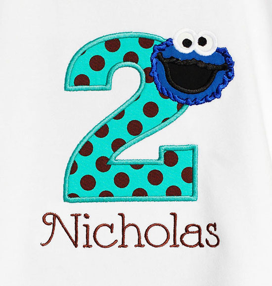 Cookie Monster 1st Birthday Shirt, Baby Boy Sesame Street, First Birthday Cookie Monster