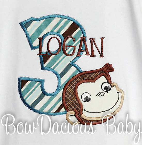 Personalized Curious George Birthday Shirt