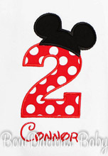 Mickey Mouse Birthday Shirt, Mickey Mouse Birthday Party, Second Birthday, Boys, Shirt or Onesie, Custom, Any Age