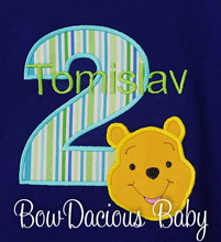 Winnie the Pooh Birthday Shirt or Onesie, Custom, Any Age, You Pick the Colors, Personalized t-shirt