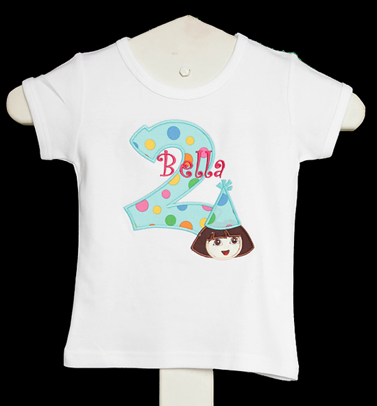 Dora Birthday Shirt, Custom