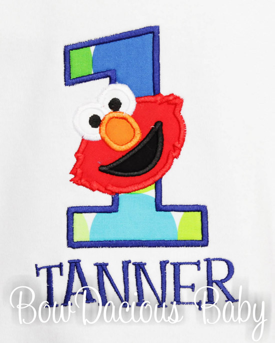 Boys Elmo Birthday Shirt