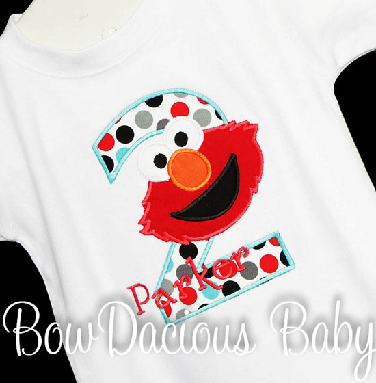 Boys Elmo Birthday Shirt or Onesie