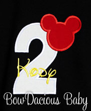 Embroidered Mickey Mouse 1st Birthday Outfit - Mickey Mouse Birthday Shirt Mickey Mouse Birthday Outfit, Custom, Any Age