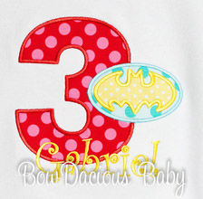 Batman Birthday Shirt, Any Age, Custom Colors