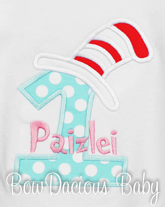 Cat in the Hat Birthday Shirts, Dresses, and Onesies