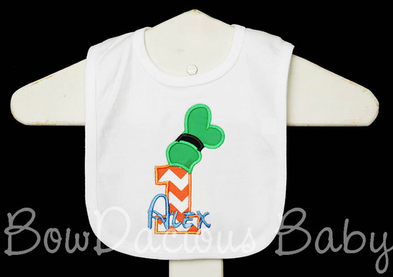 Goofy Birthday Bib, Custom Cake Smash Bib