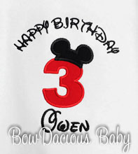Mickey Mouse Birthday Shirt or Onesie, Happy Birthday Mickey Mouse Birthday Shirt or Onesie, Custom, Any Age