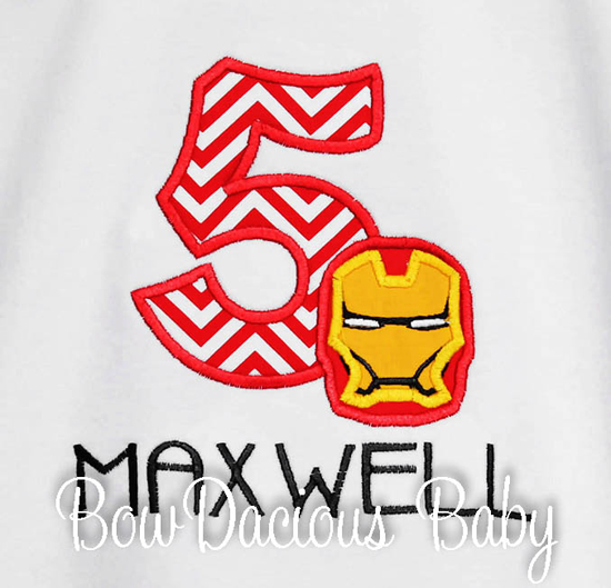 Ironman Birthday Shirt or Onesie, Custom, Any Age