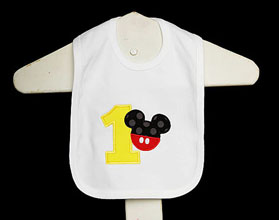 Mickey Mouse Birthday Bib, Custom