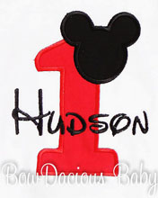 Mickey Mouse Shirt for 1st Birthdays, Boy Birthday Outfit, Custom