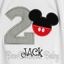 Gray Mickey Birthday Shirt, Custom