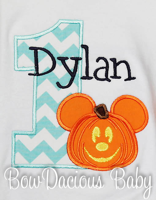 Not so Scary Halloween Party Birthday Shirt or Onesie, Custom, Any Age, Pumpkin Mickey Birthday Shirt
