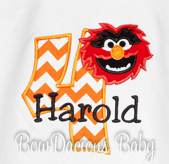 Muppets Animal Birthday Shirt or Onesie, Custom, Any Age