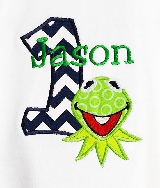 Kermit 1st Birthday Onesie or Shirt, Custom, Any Age