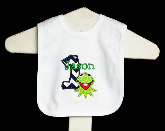 Kermit Birthday Bib