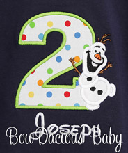 Boys Olaf Birthday Shirt, Olaf Boys Birthday Shirts, Olaf birthday Tops, Olaf Birthday, Custom