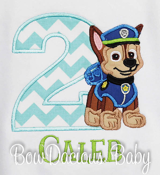 Chase Paw Patrol Birthday Shirt