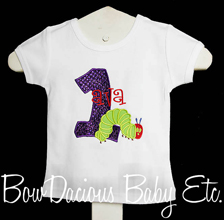 The Very HUNGRY CATERPILLAR Applique Girls First Birthday Glitter Outfit, Any Age, Custom