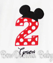 Personalized Mickey Mouse Birthday Shirt, Long or Short Sleeve, Shirt or Onesie, Custom Colors, Any Age