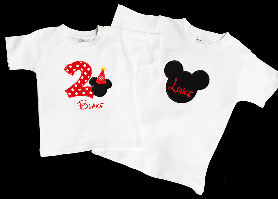 Mickey or Minnie Mouse Boys or Girls Birthday or Sibling Shirt, Top or Bodysuit. Disneyland Disney World, Red, Black & Yellow Little or Big Sister or Brother