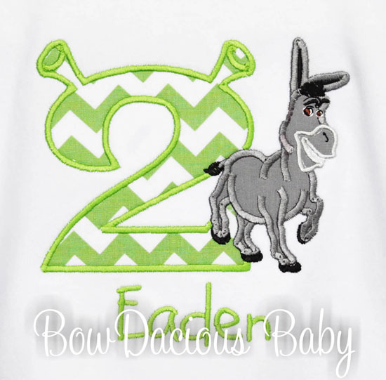 Shrek Birthday Shirt or Onesie, Custom, Any Age, Shrek Donkey Birthday Shirt