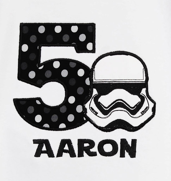 Personalized Storm Trooper Star Wars Birthday Shirt Ages 1-9