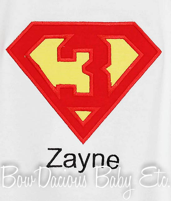 Superman Birthday Shirt or Onesie, Any Age