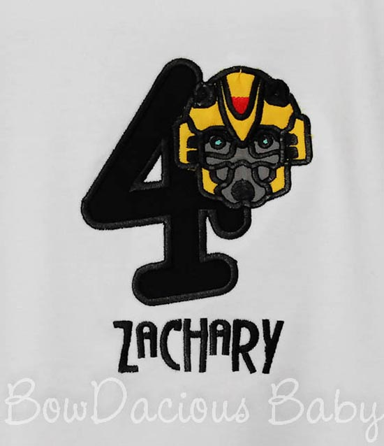Transformers Bumble Bee Birthday Shirt or Onesie