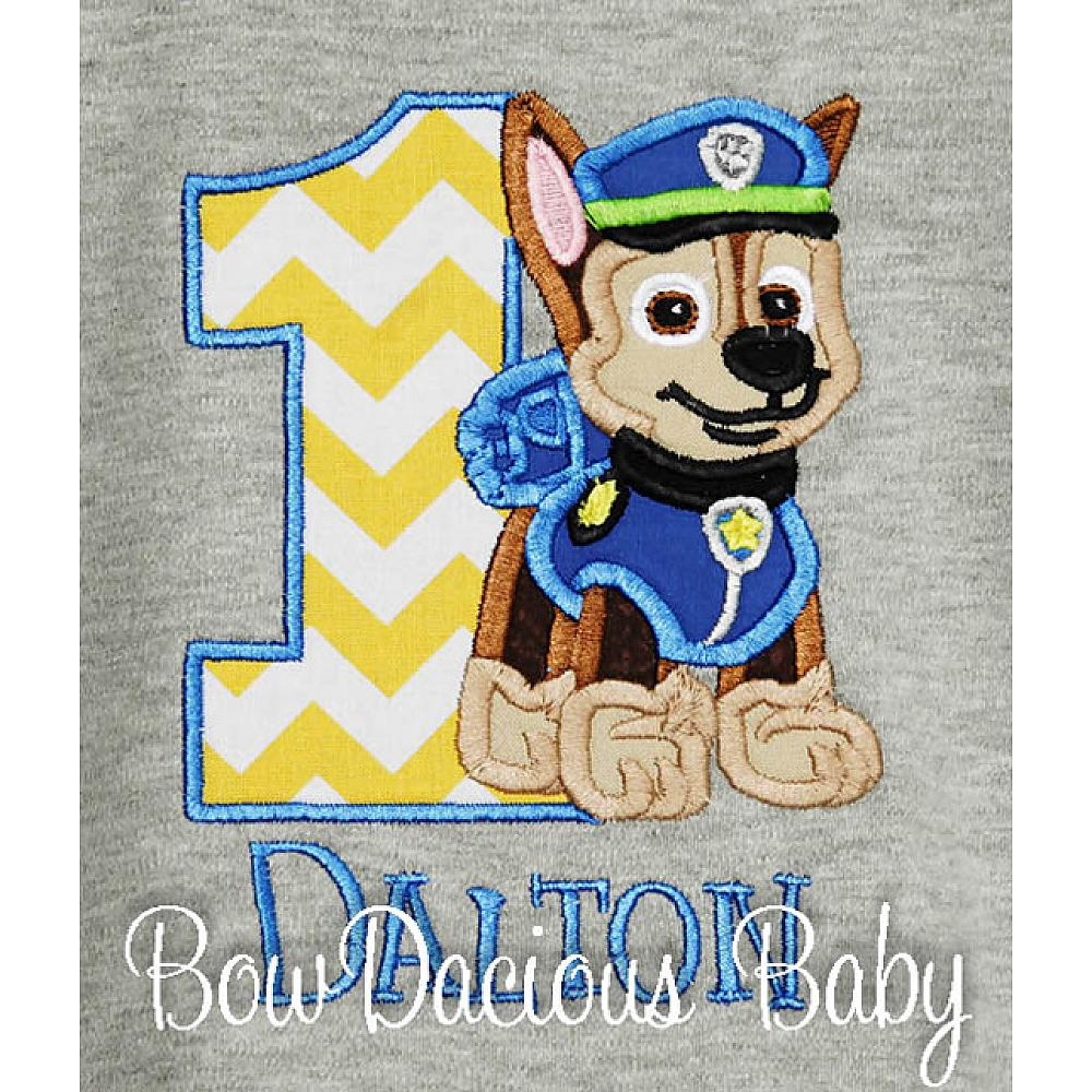 Gray Paw Patrol Birthday Shirt Or Onesie Custom