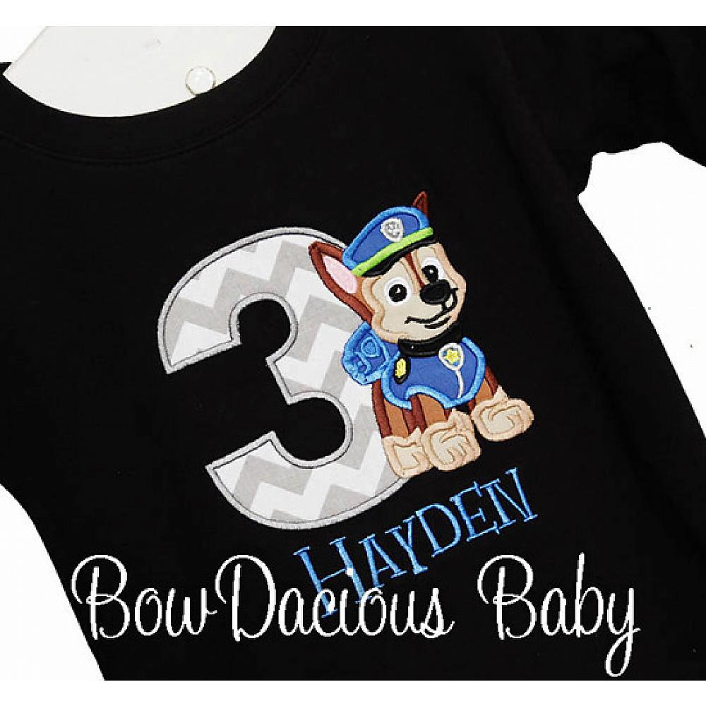 Boys Personalized Paw Patrol Birthday Shirt Or Onesie Custom Made To Your Specifications