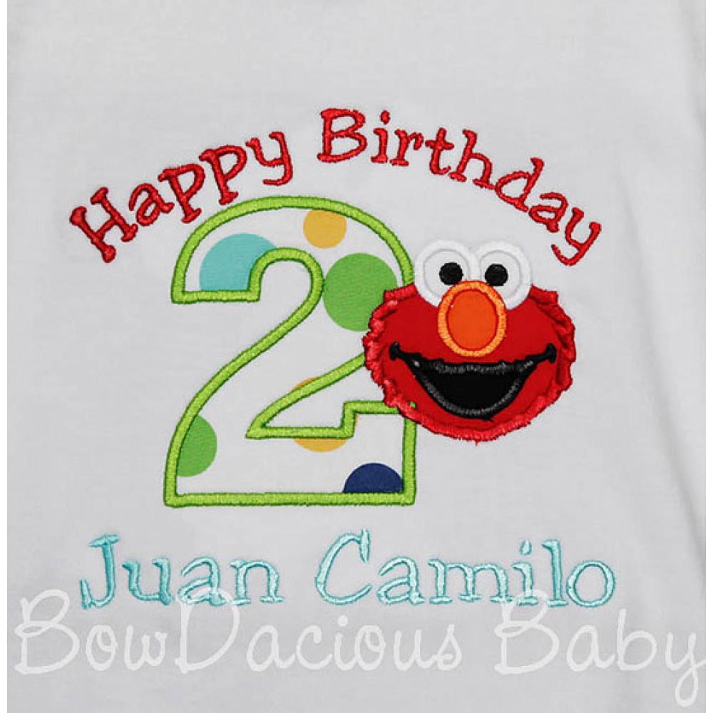 Happy Birthday Elmo Shirt Or Onesie