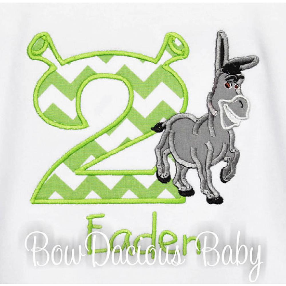 Shrek Birthday Shirt Or Onesie Custom Any Age Donkey