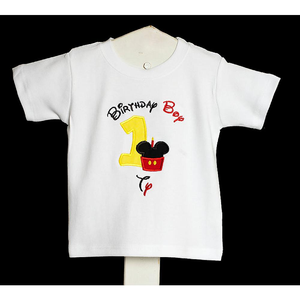 Personalized Cupcake Mickey Mouse Birthday Boy T Shirt Custom Any Age